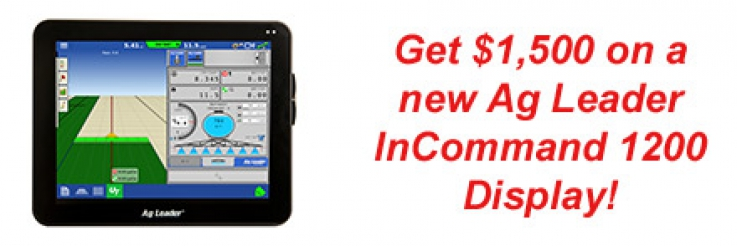 Get $1,500 on a new Ag Leader InCommand Display!