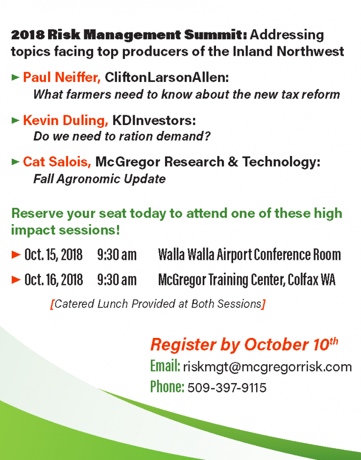 Producer Summit Meetings Oct 15 & 16